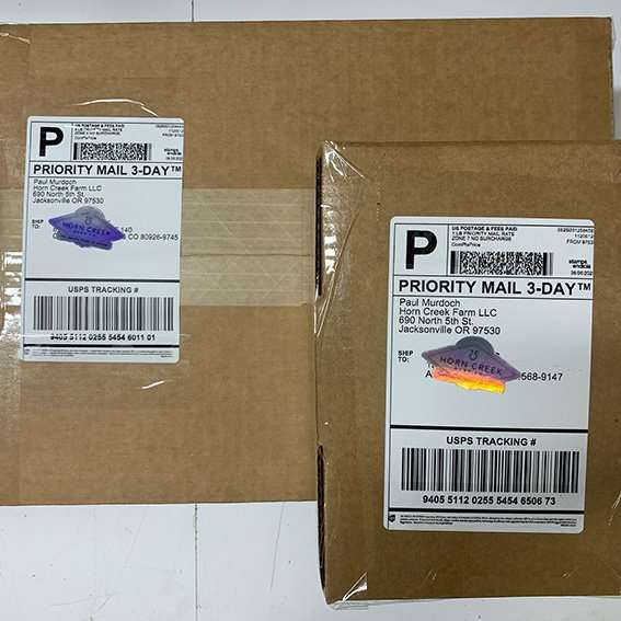 horn creek hemp packages ready to be shipped